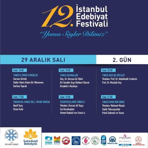 """İstanbul Edebiyat Festivali """"Yunus Söyler Dilimiz"""" Temasıyla Başlıyor Programı 2"""