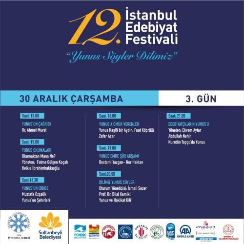 """İstanbul Edebiyat Festivali """"Yunus Söyler Dilimiz"""" Temasıyla Başlıyor Programı 3"""