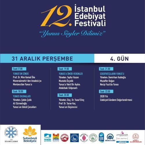 """İstanbul Edebiyat Festivali """"Yunus Söyler Dilimiz"""" Temasıyla Başlıyor Programı 4"""