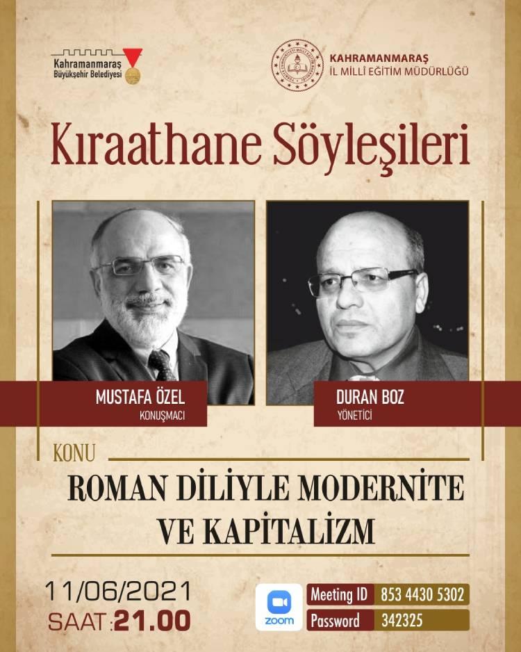 Kıraathane Söyleşilerinde Mustafa Özel haber görseli